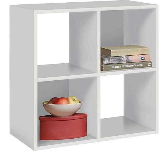 Home Squares 4 Cube Storage Unit White At Argos Co Uk