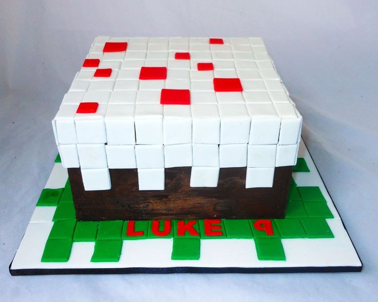 Minecraft Birthday Cake by My Cake Place http://www.mycakeplace.com.au/