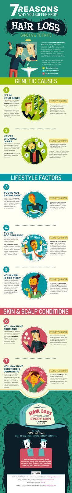 7 reasons hair loss