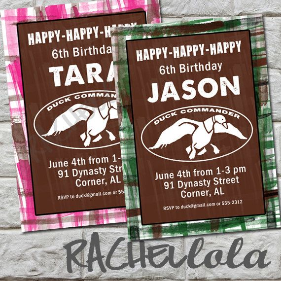 24 best emmas 8th birthday images on pinterest duck dynasty party duck dynasty duck commander birthday party invitation happy happy happy green or filmwisefo