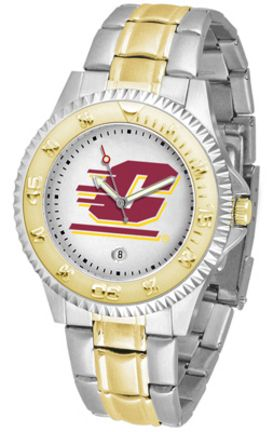 Central Michigan Chippewas Competitor Two Tone Men's Watch