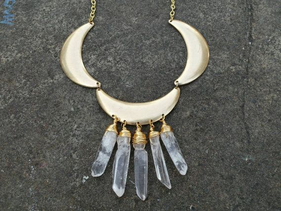 Cleopatras Moon Gold Triple Moon & Wire wrapped by fairymoonmagick