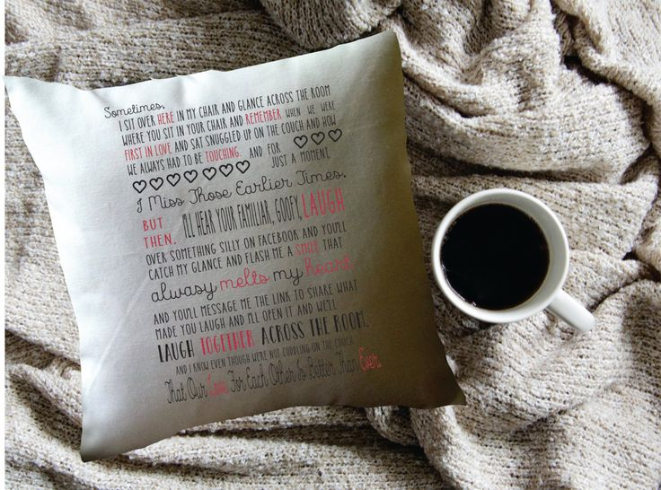 funny love letter throw pillow cover, valentine's day pillow cover, humorous married couple by MinnieandMaude on Etsy