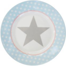 Krasilnikoff Happy Plate - Blue Big Star - Ø 20 cm