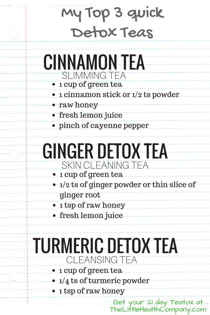 Tea detox for aiding in weightloss
