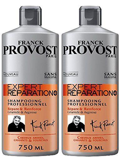 Franck Provost – Expert Réparation+ Shampooing Professionnel Répare & Renforce – 750 ml – Lot de 2: Retrouvez la qualité salon chez vous…