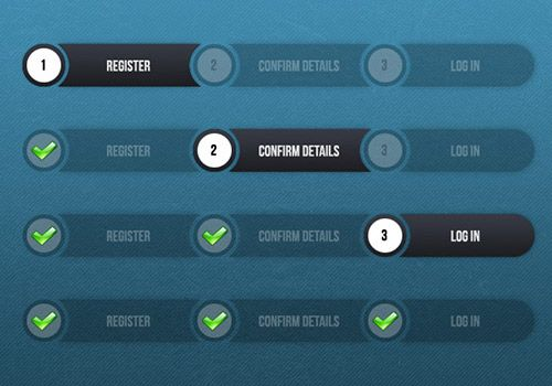 instantShift - Beautiful Free Progress Bar PSD Designs