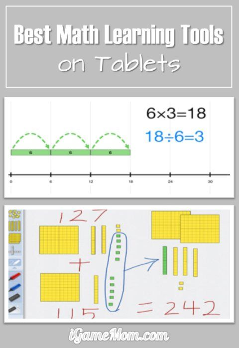 Best Math Learning Tools on iPad and other tablets, not just for practice, but also to understand the concepts, and most are free. #kidsapps