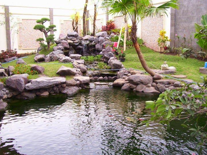 Gambar Desain Taman Rumah Dengan Kolam Ikan