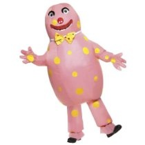 Adults Funny Mr Blobby Inflatable Suit & Gloves Fancy Dress Costume Size Medium