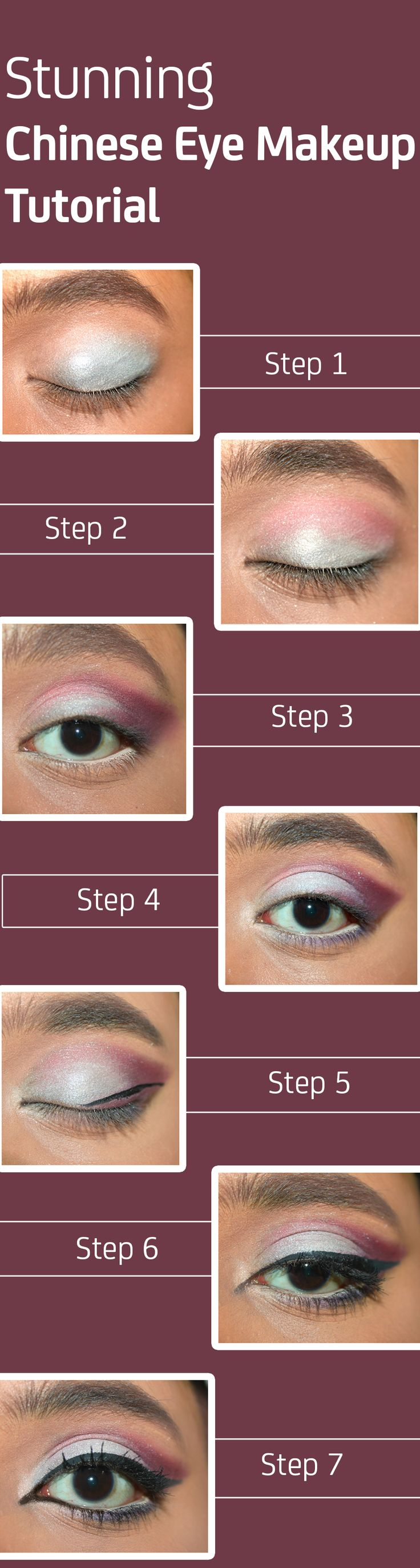 Stunning Chinese Eye Makeup – Tutorial Step By Step With Images