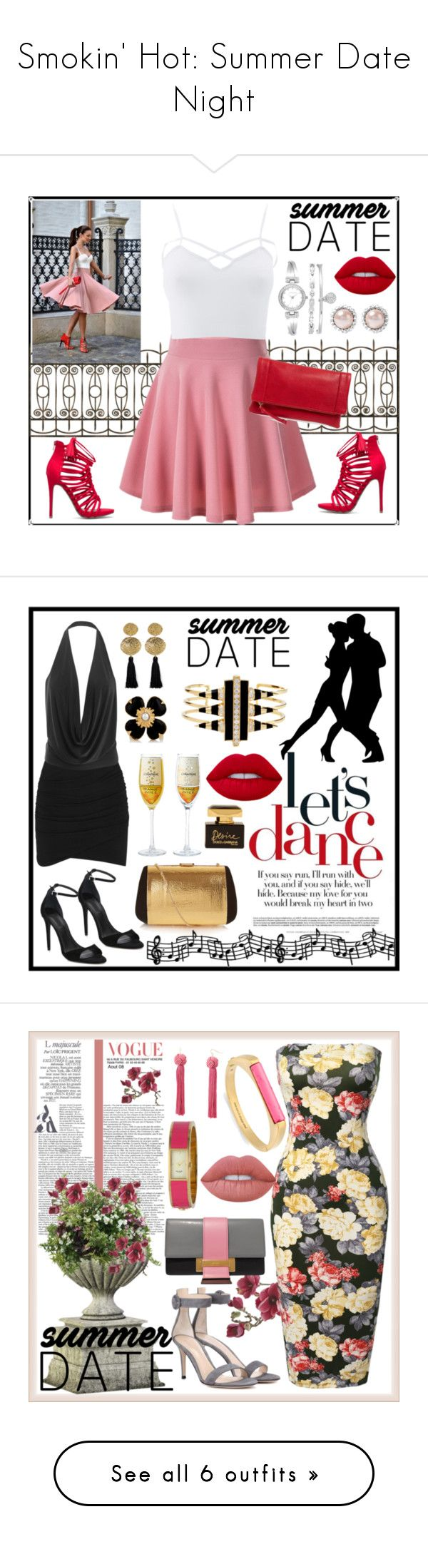 """Smokin' Hot: Summer Date Night"" by terryandjim ❤ liked on Polyvore featuring Sole Society, Charlotte Russe, Anne Klein, Miu Miu, summerdatenight, plus size clothing, James Perse, Nina Ricci, Alexander Wang and Gorjana"