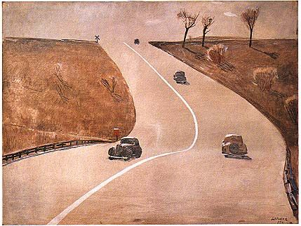 Road in Mount-Vernon 1935 year Alexander Deineka