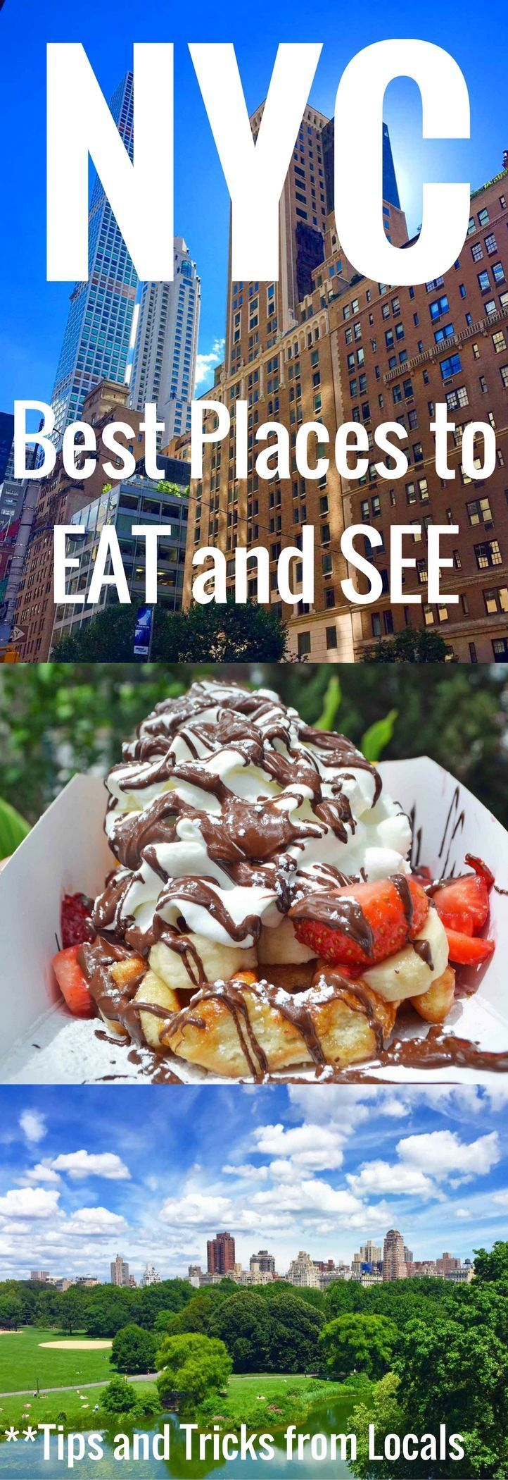 A comprehensive guide of the BEST places to EAT and SEE in New York City. Tips and tricks from the locals on how to navigate the city, the best places to see, and the highest rated places to eat. If you are planning a trip to New York City, you need this