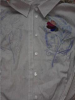 Adriana  Hobby: Cămașă tip bluză cu broderie de mână