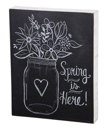 Look at this #zulilyfind! 'Spring Is Here' Chalk Box Sign by Primitives by Kathy #zulilyfinds