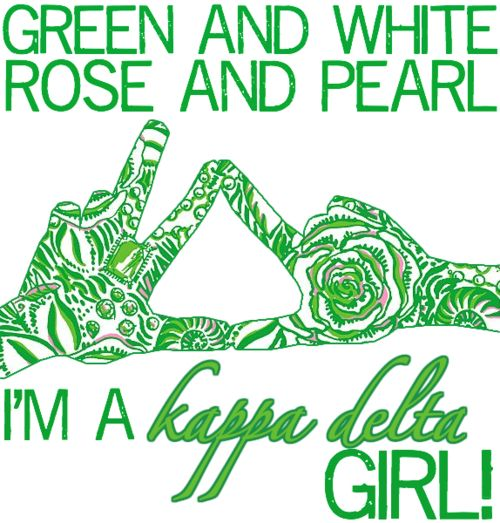 green and white, rose and pearlKayd Lady, Favorite Things, White Roses, Kappadelta, Kay Dee, Delta Girls, Kappa Delta, T Shirts, Kaydee