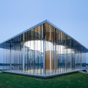 Schmidt+Hammer+Lassen's+Cloud+Pavilion+is+a+glass-walled+events+space+in+Shanghai