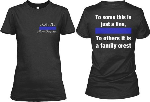 Thin Blue Line Screen Printed Fallen Officer Police LEO Cop Law Enforcement Shirt Tee Womens Relaxed Fit on Etsy, $24.00