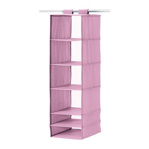 SKUBB Portatutto a 6 scomparti IKEA È facile da appendere e spostare grazie al fissaggio con nastro a strappo.