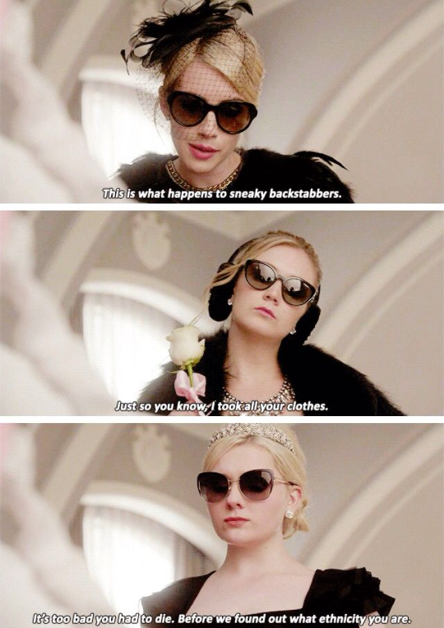 The Chanels to Chanel #2 at her funeral // Scream Queens
