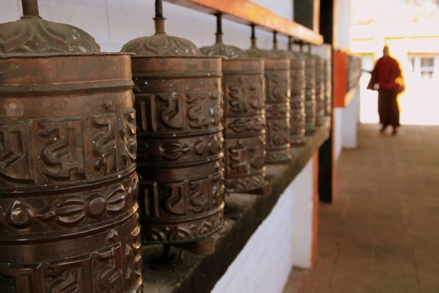 Prayer wheels (monastery Chitre. India) | Moulins à prière (monastère de Chitre. Inde) | Prayer wheels (monastery Chitre. India)