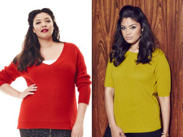 Модные свитера для полных женщин