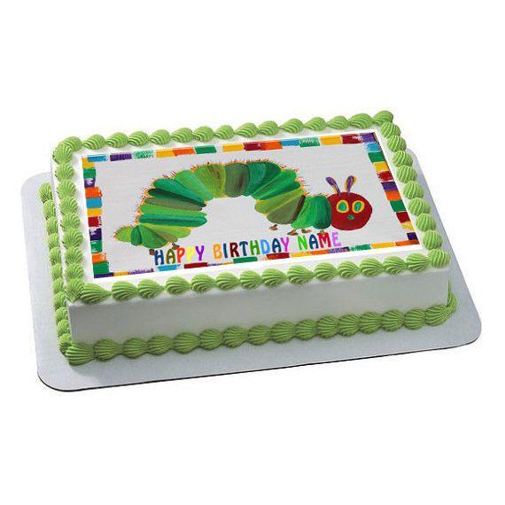 Hungry Caterpillar Edible Cake Topper