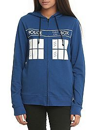 HOTTOPIC.COM - Doctor Who TARDIS Flying Girls Hoodie