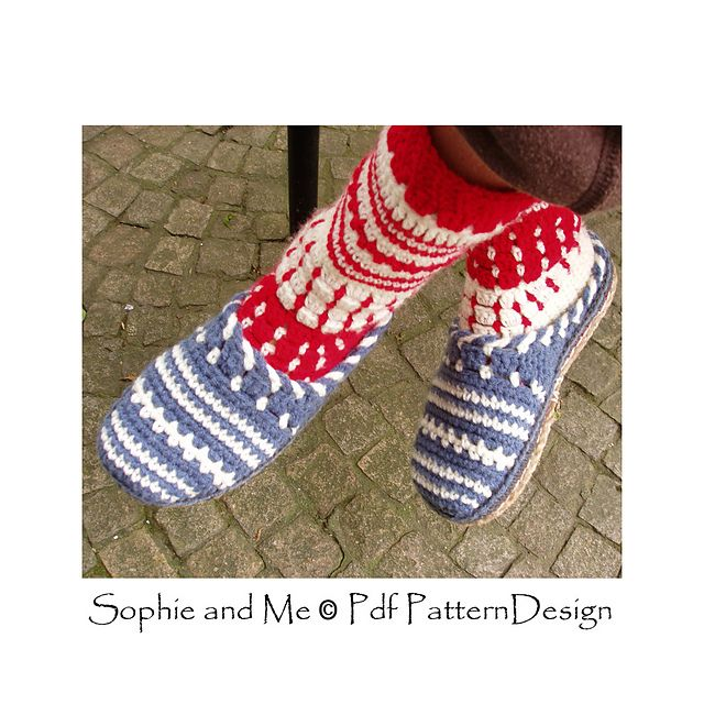 Sweater Clog Slip-In Slippers Crochet Pattern. Tailored Cord-Soles attached!