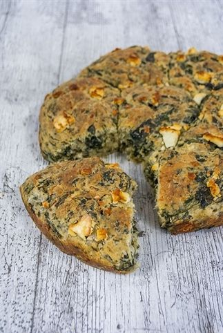 Spinazie feta brood