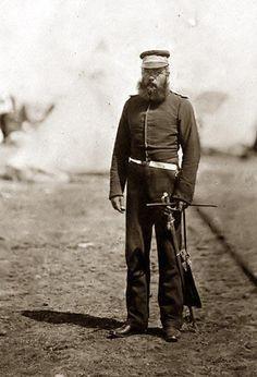 Major Pipon, Royal Artillery, taken during the Crimean War (1853-1856).