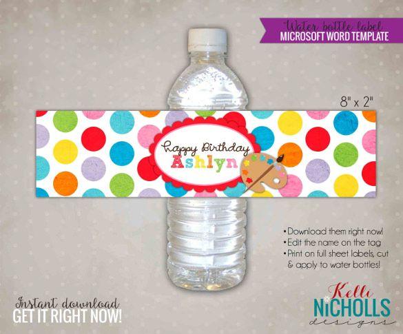 28 Free Psd Eps Ai Illustrator Format Download Free Premium Templates Water Bottle Labels Template Bottle Label Template Label Templates