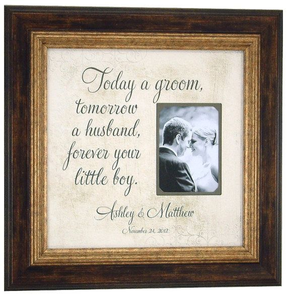 Wedding Gift Ideas For Brides Father : Wedding Gifts Parents Bride Groom MOM & DAD Sign Frame Father of The ...