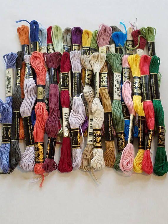 Destash 30 skeins of DMC  embroidery floss