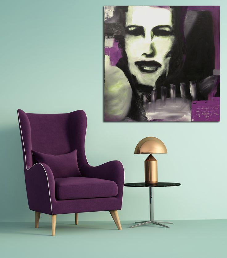 Art by Elisabeth Takvam. Acrylic on canvas