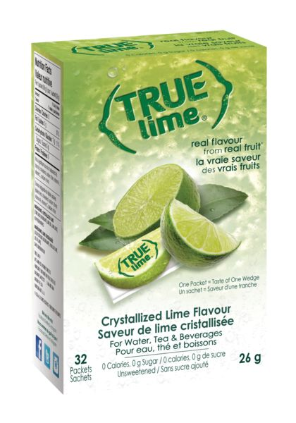 (Case of 6) True Citrus - 32 Packets - Lime