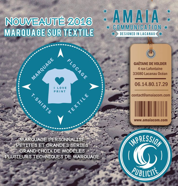 Impression sur textile Lacanau