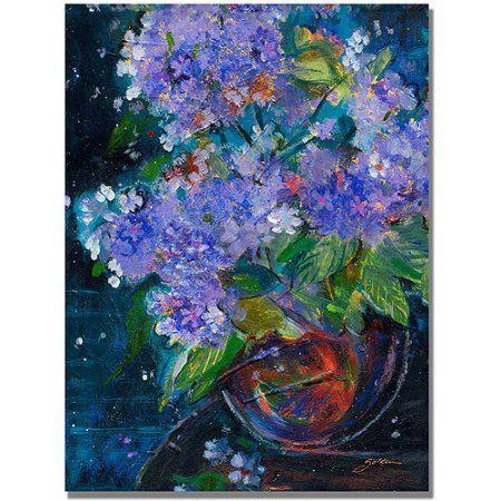 Trademark Art Bouquet In Violet Canvas Wall Art By Shelia Golden Walmart Com In 2021 Golden Painting Art Painting