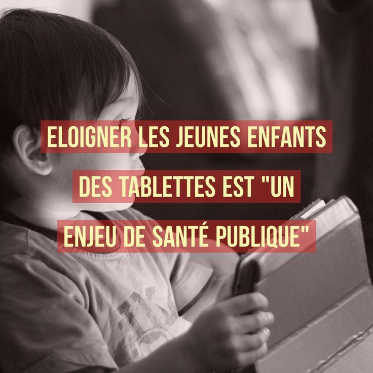 """ELOIGNER LES JEUNES ENFANTS DES TABLETTES EST « UN ENJEU DE SANTÉ PUBLIQUE ».  Invitée de Jean-Jacques Bourdin sur RMC, Sabine Duflo, psychologue clinicienne, l'affirme : Eloigner les jeunes enfants des tablettes est """"un enjeu de santé publique""""."""