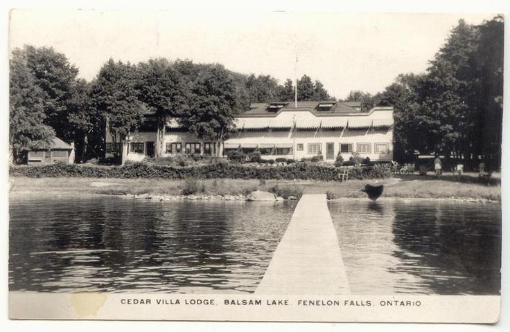 circa 1940's ... Cedar Villa Lodge on Balsam Lake, Not far from Fenelon Falls