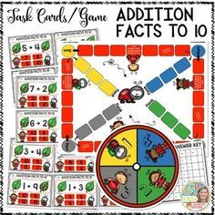 Addition Facts to 10 Task Cards or Game BoardThis is a fun and engaging way for kiddos to practice  odd or even number  skills.  This product comes with: 43 game cards/task cards Game spinner Game board Answer card Task card sheetBELOW are two different options for this skill.