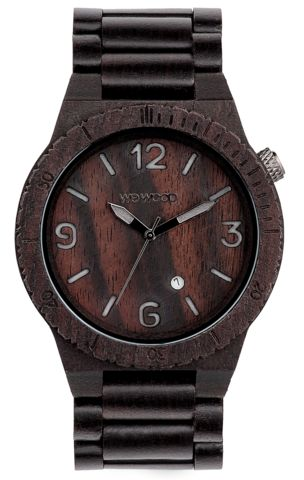 Wooden Watch Alpha Black - GoodiesHub.com