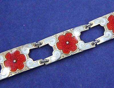 Vtg Norway Sterling Silver Enameled Bracelet Marked Tva Andresen