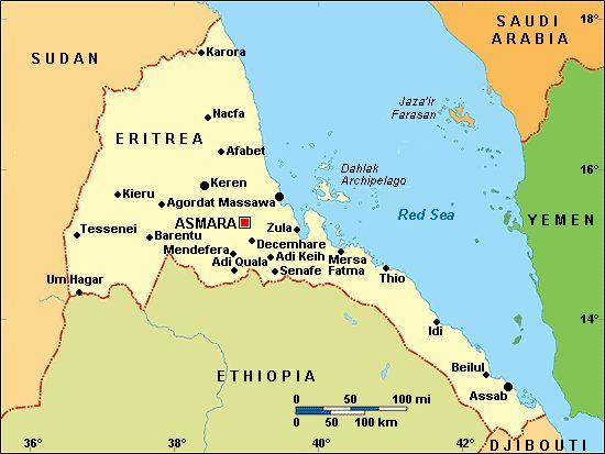 Eritrea Map | eritrea-map.gif