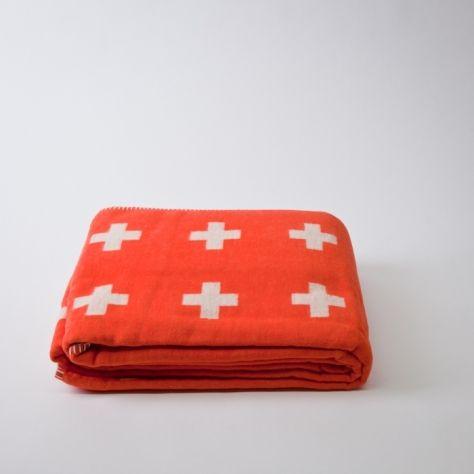 Cross Blanket by Pia Wallen in orange!Red Crosses, Company Picnics, Summer Picnics, White Decor, Black White, Picnics Summer, Crosses Blankets, Design Website, Pia Wallen