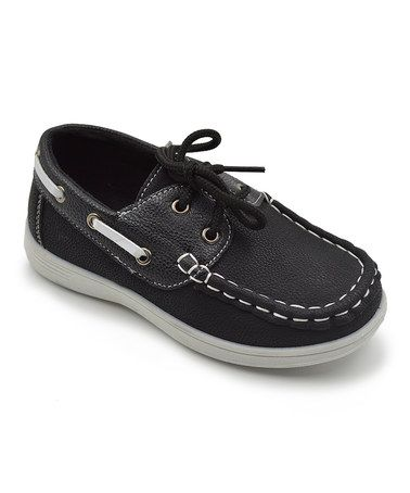 Love this Black Boat Shoe on #zulily! #zulilyfinds