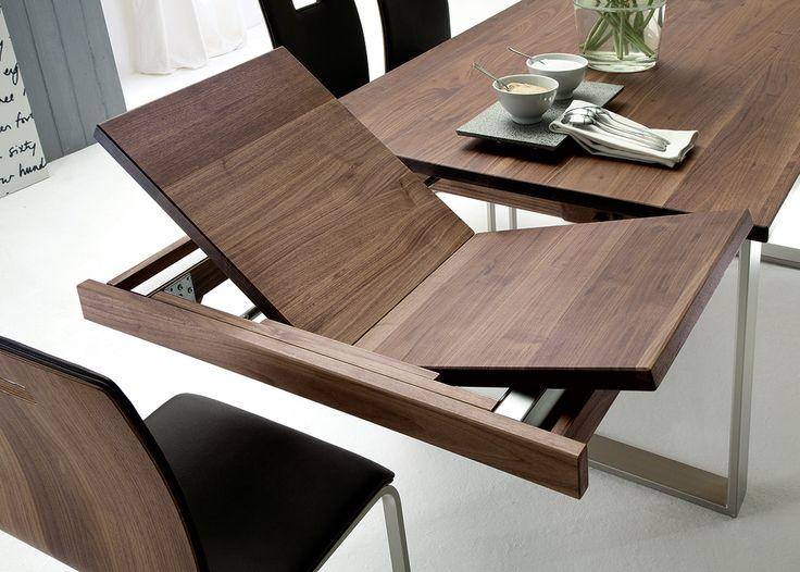 Tisch Mercedo Eleganter Tisch Mit Edelstahlkufen Esstisch Nussbaum Ausziehbar Esstisch Nussbaum Esstisch Ausziehbar