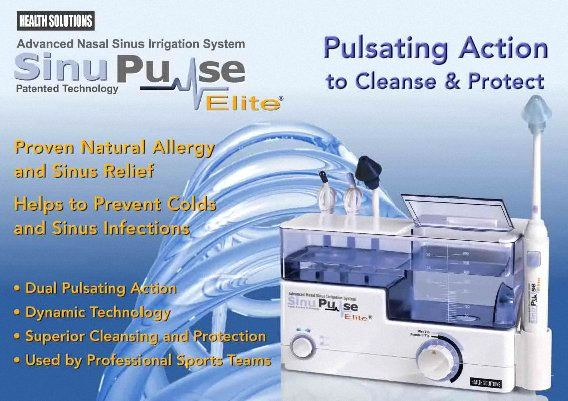 SinuPulse Pulsating Nasal Sinus Irrigation System for Natural Allergy and Sinus Relief