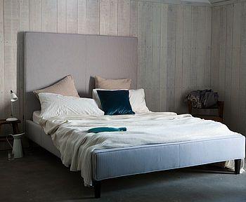 U0027Lolau0027 High Headboard Upholstered Bed